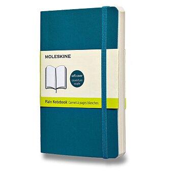 Obrázek produktu Zápisník Moleskine - měkké desky - S, čistý, modrozelený