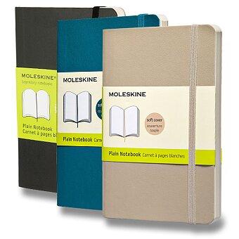 Obrázek produktu Zápisník Moleskine - měkké desky - S, čistý, výběr barev