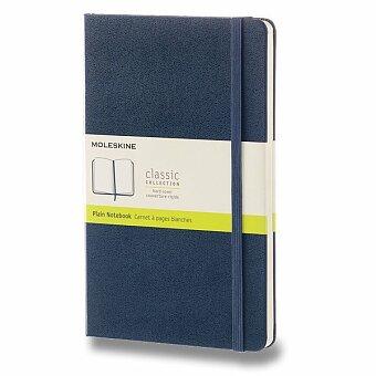 Obrázek produktu Zápisník Moleskine - tvrdé desky - L, čistý, modrý
