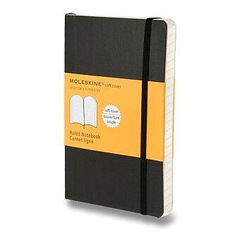 Obrázek produktu Zápisník Moleskine - měkké desky - S, linkovaný, černý
