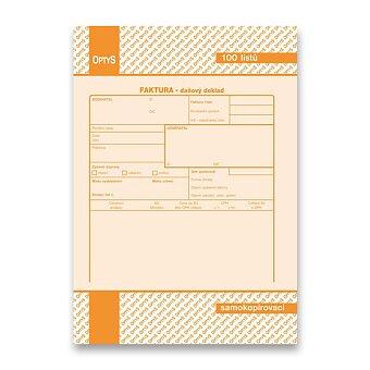 Obrázek produktu Faktura daňový doklad Optys 1072 - A5, samopropis