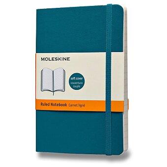 Obrázek produktu Zápisník Moleskine - měkké desky - S, linkovaný, modrozelený
