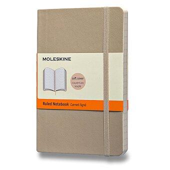 Obrázek produktu Zápisník Moleskine - měkké desky - S, linkovaný, béžový