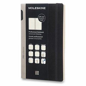 Obrázek produktu Zápisník Moleskine Professional - měkké desky - L, černý