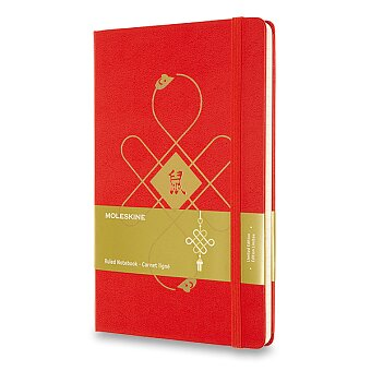 Obrázek produktu Zápisník Moleskine Chinese - tvrdé desky - L, linkovaný, červený