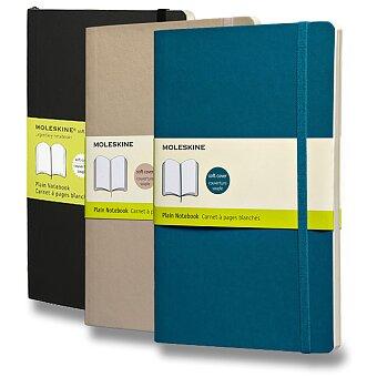 Obrázek produktu Zápisník Moleskine - měkké desky - L, čistý, výběr barev