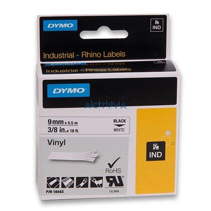 Obrázek produktu Dymo Rhino 18443 - originální vinylová páska - černo-bílá,  9 mm x 5,5 m