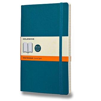 Obrázek produktu Zápisník Moleskine - měkké desky - L, linkovaný, modrozelený