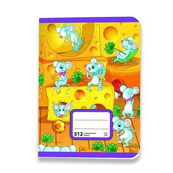 Obrázek produktu Školní sešit 512 - A5, linkovaný 16 mm, 10 listů, s 2 pomocnými linkami