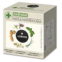 Bylinný čaj Leros Zažívání Máta & Mateřídouška