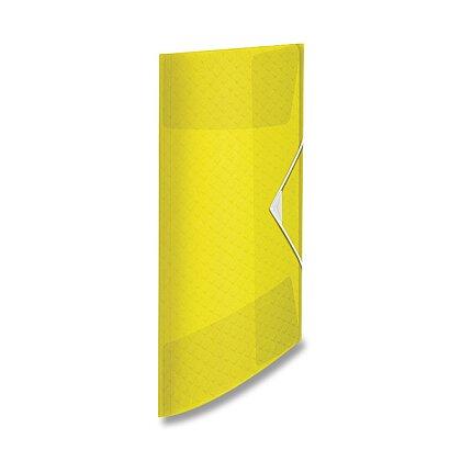 Obrázek produktu Esselte Colour´Ice - 3chlopňové desky - A4, 150 listů, ledově žlutá