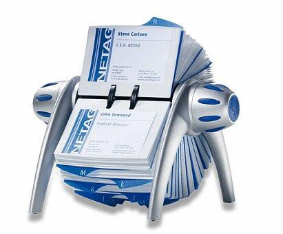 Obrázek produktu Stolní kartotéka Durable Visifix - na 400 vizitek, stříbrná