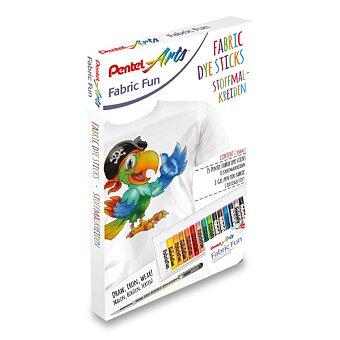 Obrázek produktu Kreativní sada Pentel Arts na textil - voskovky 15 barev + gelový roller