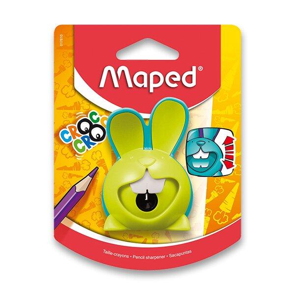 Ořezávátko Maped Croc Croc Innovation - s odpadní nádobkou 1 otvor, blistr, mix barev