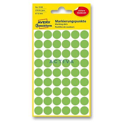 Obrázek produktu Avery Zweckform - kulaté etikety - průměr 12 mm, 270 etiket, zelené neon
