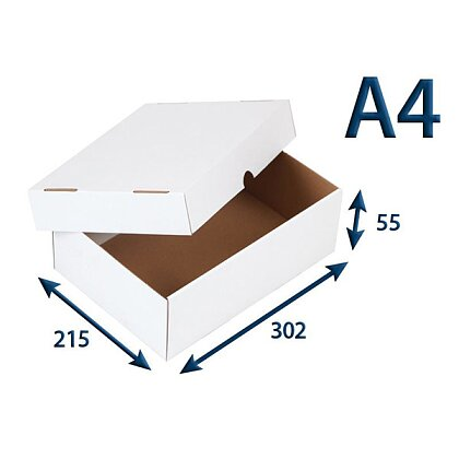 Product image White box with lid - 302 x 215 x 55 mm