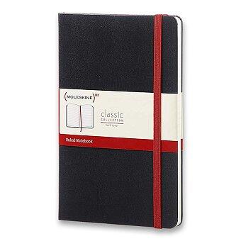 Obrázek produktu Zápisník Moleskine - tvrdé desky - L, linkovaný, černý/červená páska