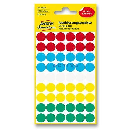 Obrázek produktu Avery Zweckform - kulaté etikety - průměr 12 mm, 270 etiket, mix barev