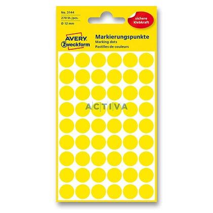 Obrázek produktu Avery Zweckform - kulaté etikety - průměr 12 mm, 270 etiket, žluté