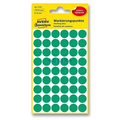 Obrázek produktu Avery Zweckform - kulaté etikety - průměr 12 mm, 270 etiket, zelené