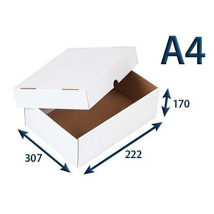 Obrázek produktu Bílé krabice s víkem - 307 × 222 × 170 mm