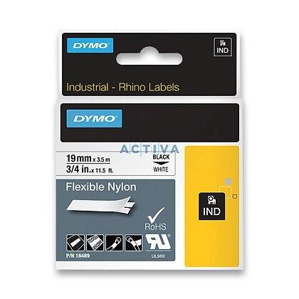 Obrázek produktu Dymo Rhino 18489 - originální nylonová flexibilní páska - černo-bílá, 19 mm x 3,5 m