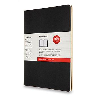 Obrázek produktu Sešity Moleskine Subject Cahier - tvrdé desky - A4, čistý, 2 ks, černá/kraftová