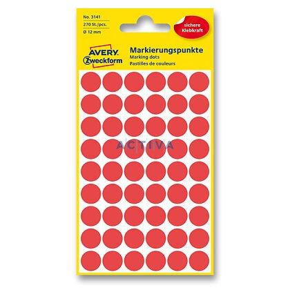 Obrázek produktu Avery Zweckform - kulaté etikety - průměr 12 mm, 270 etiket, červené