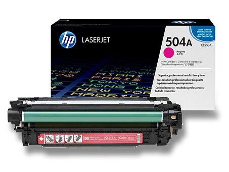 Obrázek produktu Toner HP CE253A č. 504A pro laserové barevné tiskárny - magenta (červený)