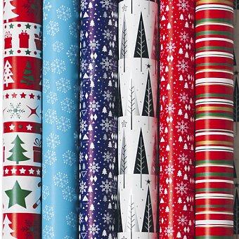 Obrázek produktu Vánoční balicí papír Alliance Christmas - 2 x 0,7 m, mix barev