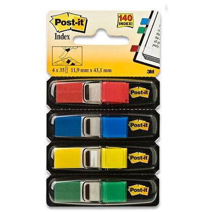Obrázek produktu 3M Post-it Index 683  - samolepicí záložky - 11,9×43,2 mm, 4×35 záložek