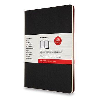 Obrázek produktu Sešity Moleskine Subject Cahier - tvrdé desky - A4, čistý, 2 ks, černá/vínová
