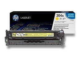 Toner HP CC532A č. 304A pro laserové barevné tiskárny
