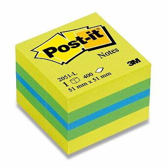 Obrázek produktu Samolepicí bloček 3M Post-it 2051L/2051P Duha - 51 x 51 mm, 400 listů, citronový