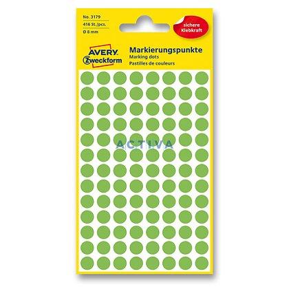 Obrázek produktu Avery Zweckform - kulaté etikety - průměr 8 mm, 416 etiket, zelené neon