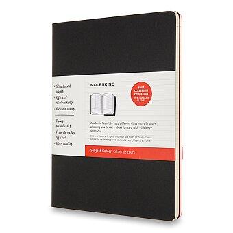 Obrázek produktu Sešity Moleskine Subject Cahier - tvrdé desky - XL, čistý, 2 ks, černá/vínová