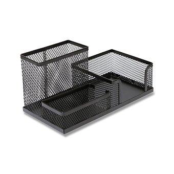 Obrázek produktu Drátěný stolní organizér - 3 přihrádky, 20,5, x 9,5 x 10 cm