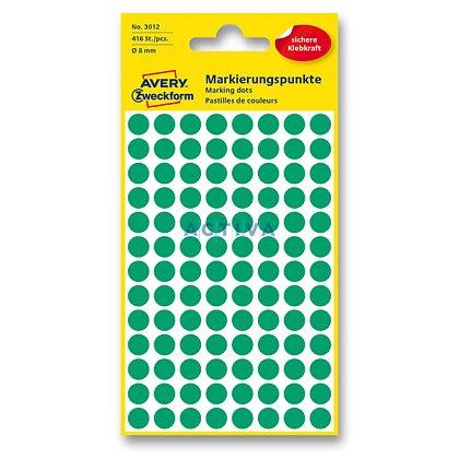 Obrázek produktu Avery Zweckform - kulaté etikety - průměr 8 mm, 416 etiket, zelené