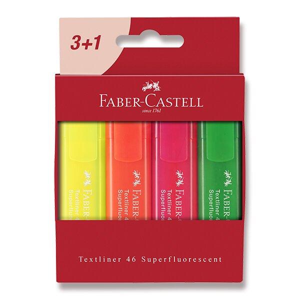 Zvýrazňovač Faber-Castell Textliner 46 4 kusy