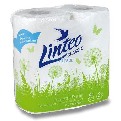 Obrázek produktu Linteo - toaletní papír - 2-vrstvý, 150 útržků, návin 15 m, 4 ks