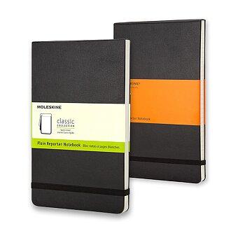 Obrázek produktu Zápisník v tvrdých deskách Moleskine Reporter - 9 x 14 cm, černý, výběr provedení