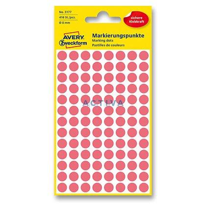 Obrázek produktu Avery Zweckform - kulaté etikety - průměr 8 mm, 416 etiket, červené neon