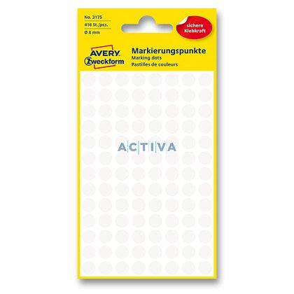 Obrázek produktu Avery Zweckform - kulaté etikety - průměr 8 mm, 416 etiket, bílé