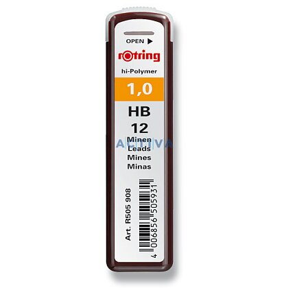 Obrázek produktu Rotring - tuhy do MT - 1 mm, HB