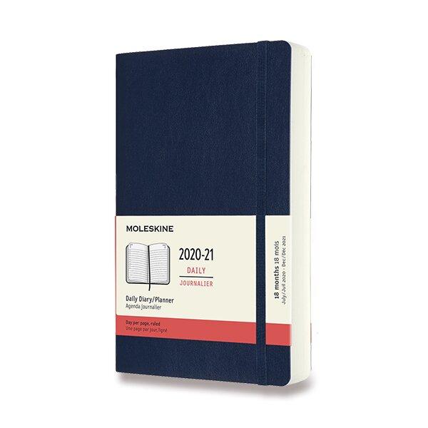 18měsíční diář Moleskine 2020-21 - měkké desky modrý