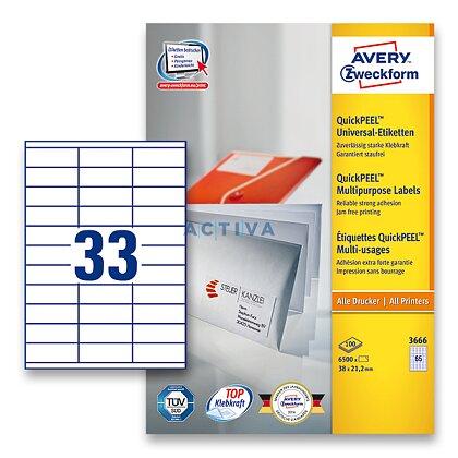 Obrázek produktu Avery Zweckform - univerzální etikety - 70,0 x 25,4 mm, 3300 etiket