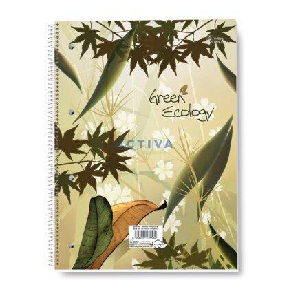 Obrázok produktu Green Ecology - krúžkový blok - A4, 50 l., linajkový