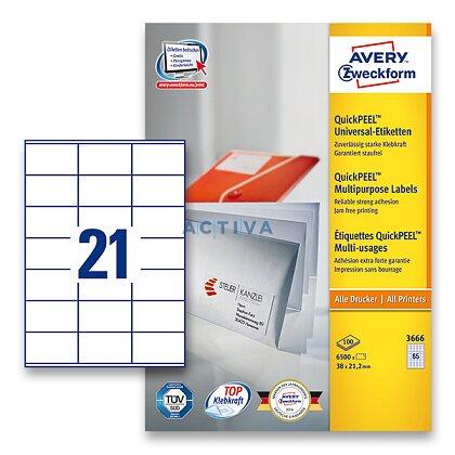 Obrázek produktu Avery Zweckform - univerzální etikety - 70,0 x 41,0 mm, 2100 etiket
