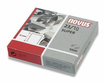Obrázek produktu Drátky do sešívaček Novus 23/10 - 1000 ks, na 80 listů
