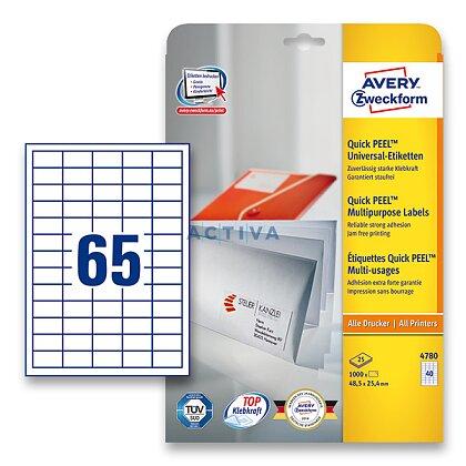 Obrázek produktu Avery Zweckform - univerzální etikety - 38,0 × 21,2 mm, 1950 etiket